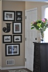 Small Foyer Decorating/Gallery Wall