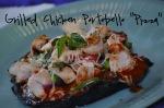 Grilled Chicken Portobello Pizza