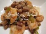 Garlicky Shrimp & Peas