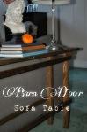 Barn Door Sofa Table