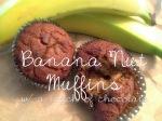 Banana Nut Muffins w/ Chocolate