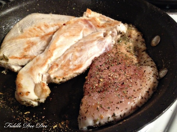 chicken cutlets seasoned with Italian seasoning