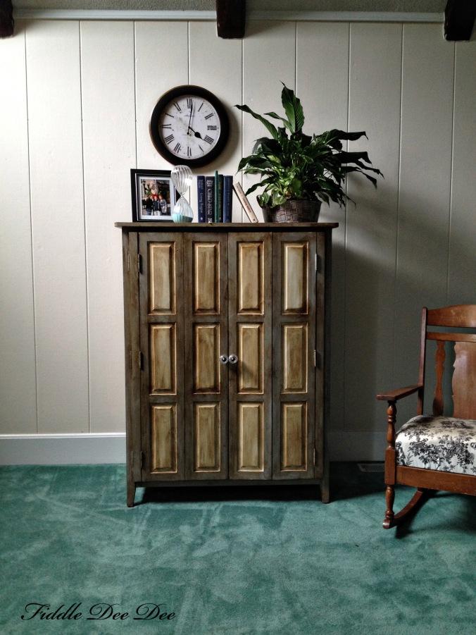 Repurposed Entertainment cabinet