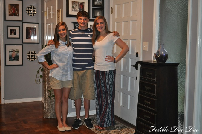 My sophomore, freshman and senior ... no more babies!