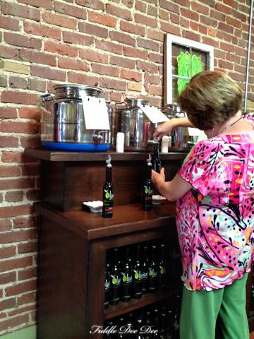 filling our olive oils