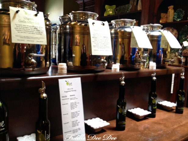 At the olive oil bar