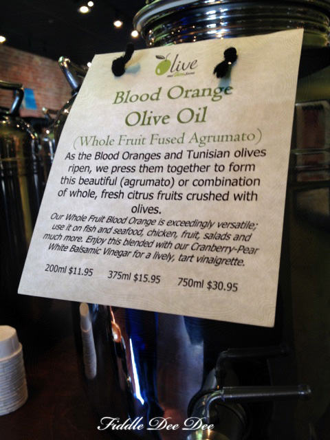 blood oragnge infused olive oil