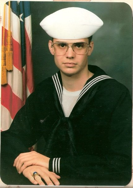 The obligatory boot camp picture ... 1990 in Great Lakes