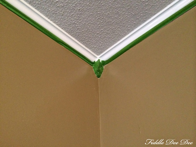Frog Tape along the trim in our room