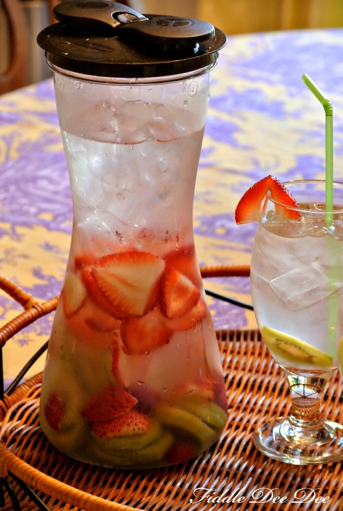 strawberry kiwi infused water