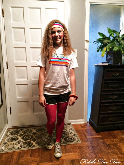 1980's day for spirit week .... channeling Oliva Newton John