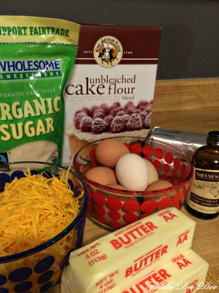 Cheesy Pound Cake Ingredients