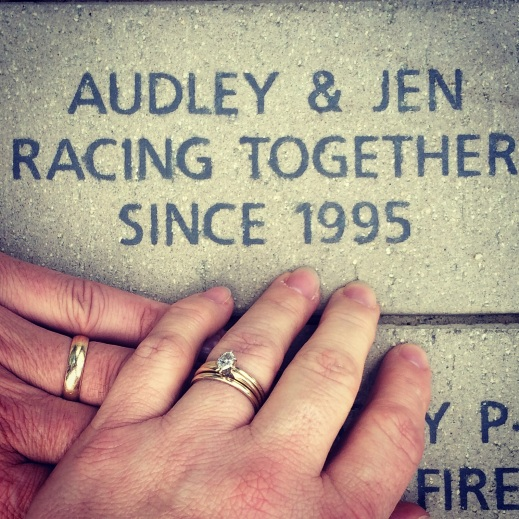 Yes, we have a brick at the NASCAR Hall of Fame immortalizing our love for each other .... and the sport.