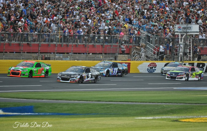 Racing at Charlotte Motor Speedway