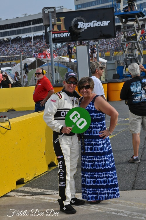 Dressing up to be on Pit Road during the race.... My friend Yvonne was a NASCAR official so we've enjoyed our share of perks.
