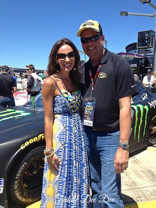 Last year when Audley met Samantha Busch, wife of the #18 Kyle Busch