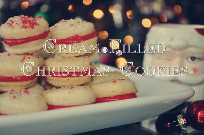 cream-filled christmas cookies