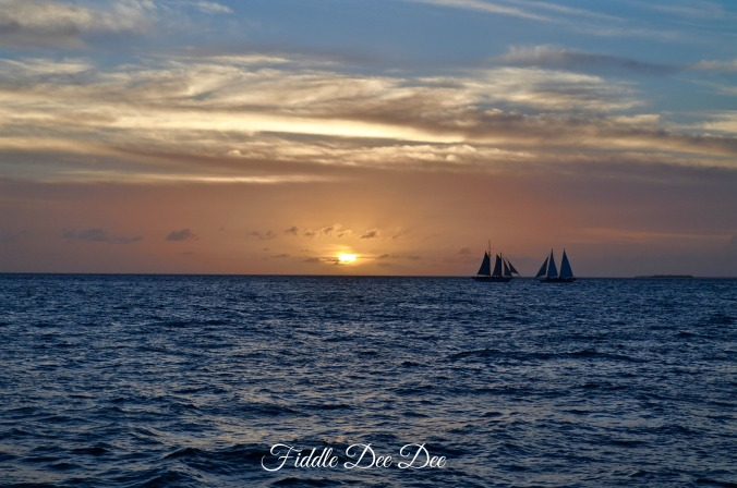 New Years Eve Sunset cruise on the Jolly II Rover sailing from the port at Key West.