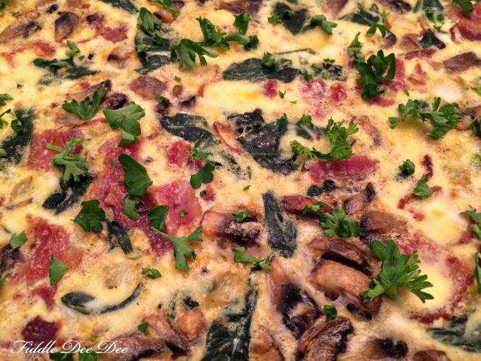 Spinach Mushroom Frittata 9