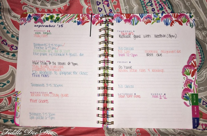 college girl planner