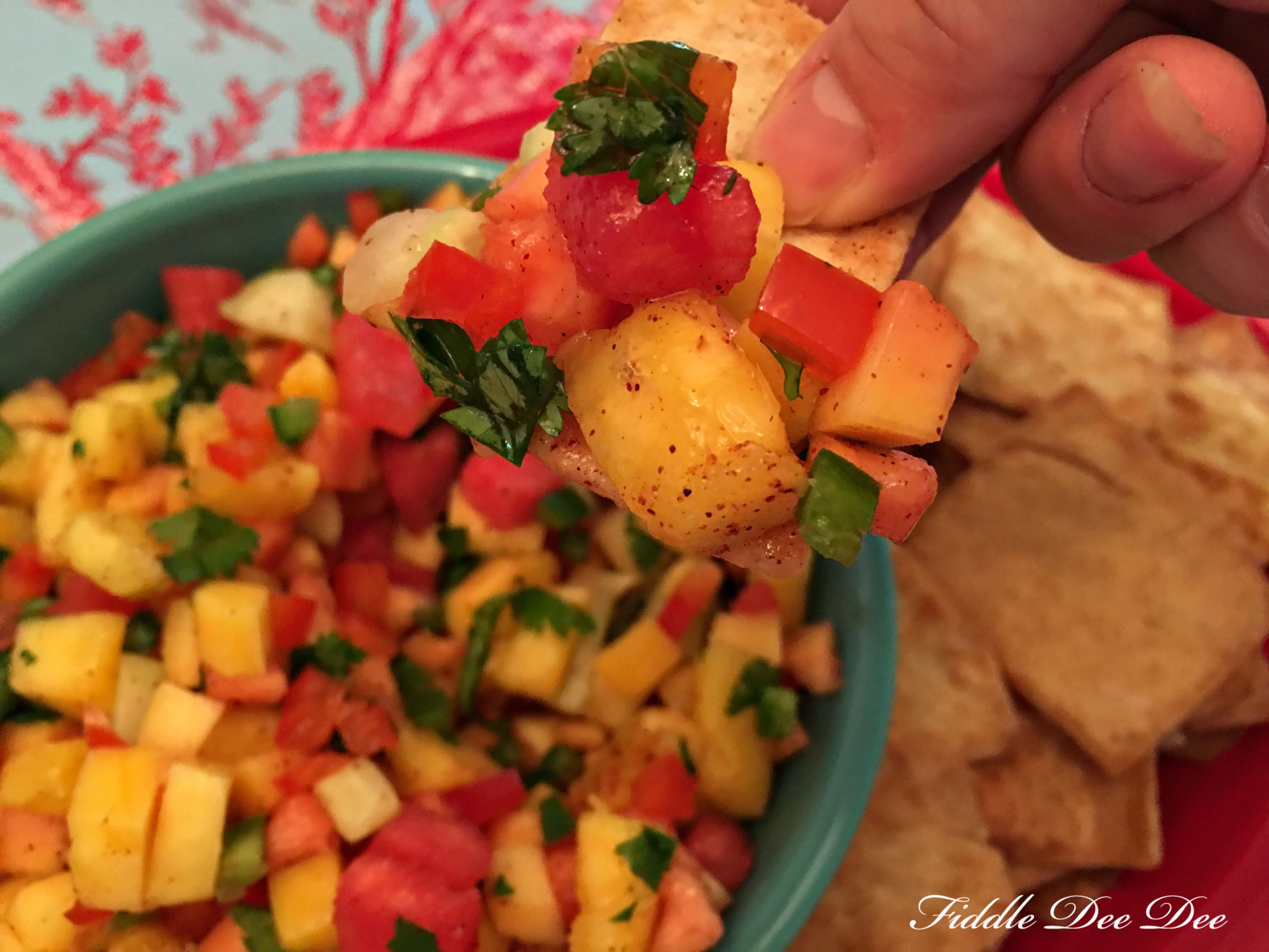 Game Day Fruit Salsa | Fiddle Dee Dee by Jennifer Jones