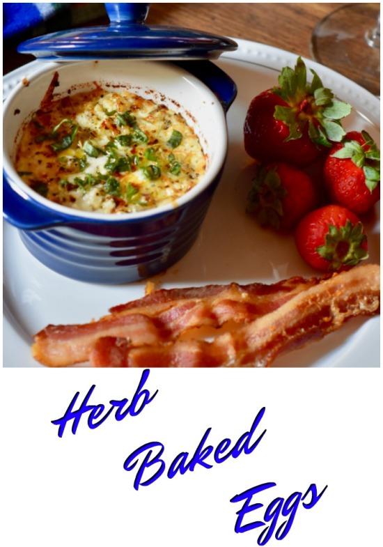 Herb Baked Egg Brunch