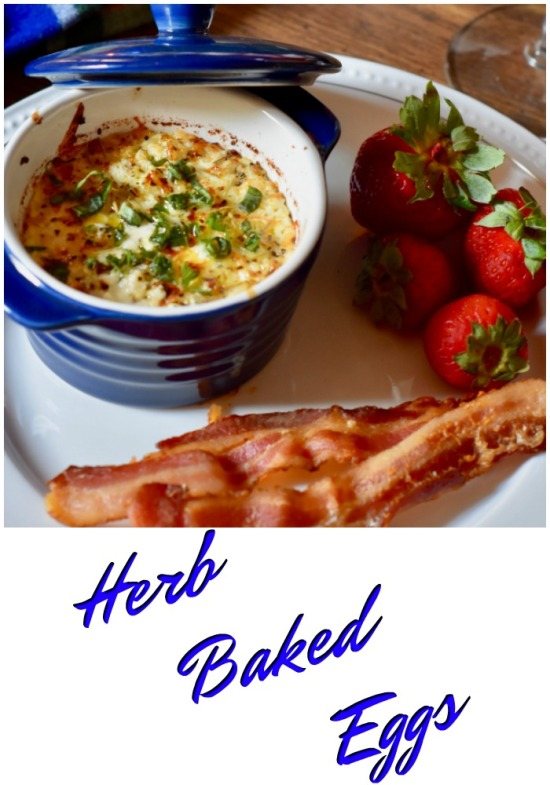 Herb Baked Egg Brunch