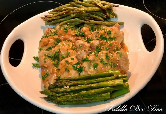 Chicken-Citrus-Garlic-Sauce-Dish | fiddle-dee-dee