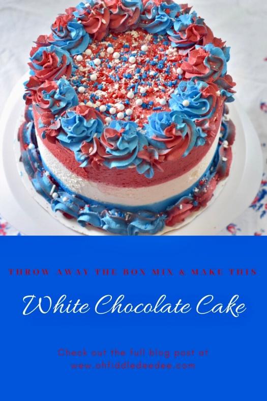 Velvety White Chocolate Cake