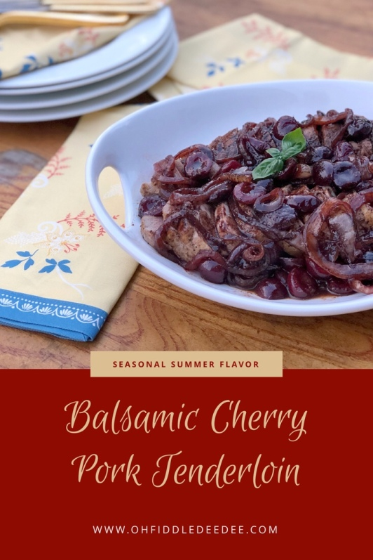 Balsamic Cherry Pork Tenderloin Recipe