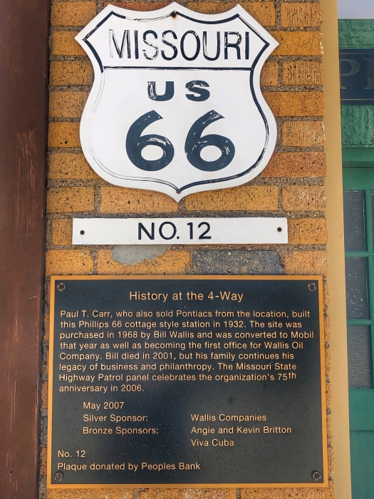 Historic Route 66 Marker / Oh Fiddle Dee Dee
